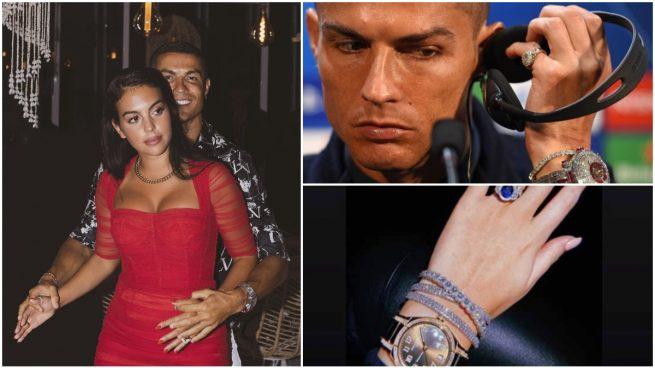 Cristiano Ronaldo, Georgina Rodríguez y alguna de sus joyas.