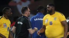 Mvumbi durante el debut de la República Democrática del Congo en el Mundial. (AFP)