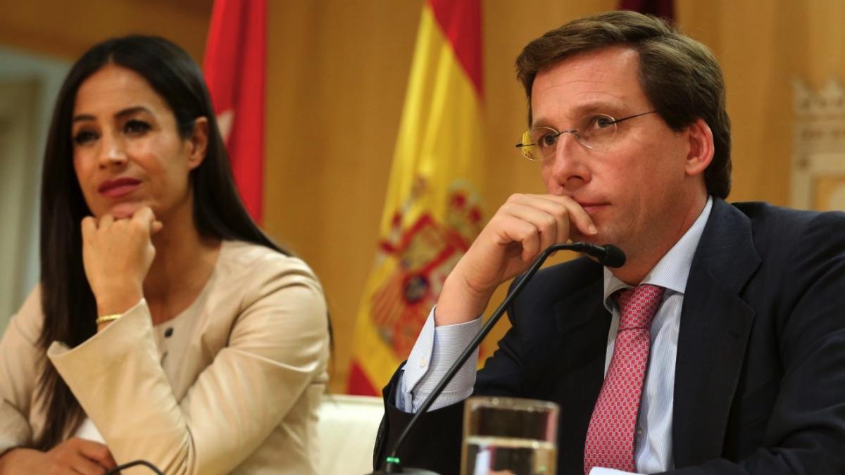 Begoña Villacís y José Luis Martínez-Almeida en rueda de prensa. (Foto. Madrid)
