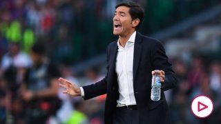 Marcelino, durante un partido. (Getty)