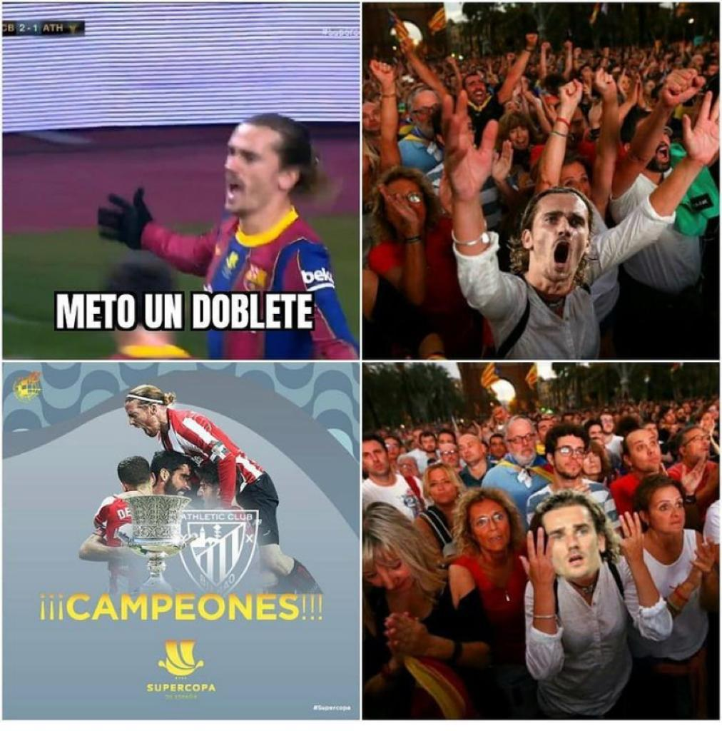 Los mejores memes de la derrota del Barcelona en la Supercopa de España