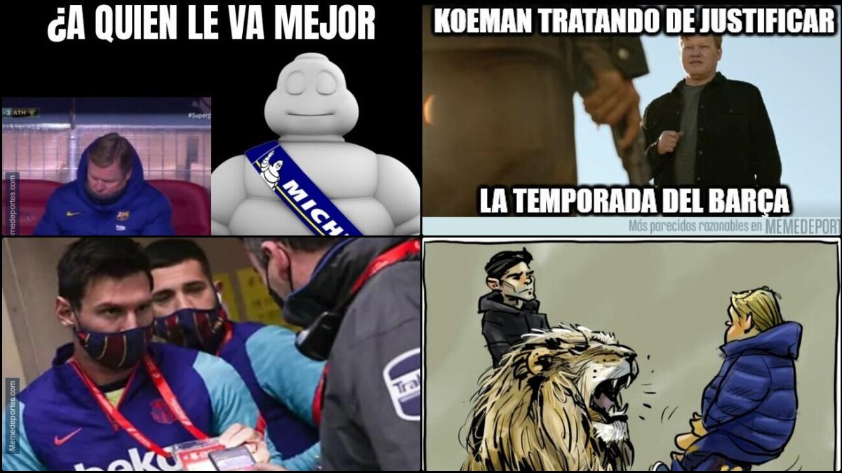 Los mejores memes del partido de la derrota del Barcelona en la Supercopa.