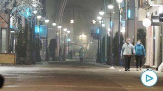 Una calle de Valladolid el día de la entrada en vigor del toque de queda. Foto: EP