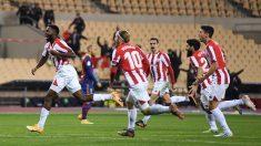 Iñaki Williams celebra su gol ante el Barcelona en la Supercopa de España. (Getty)