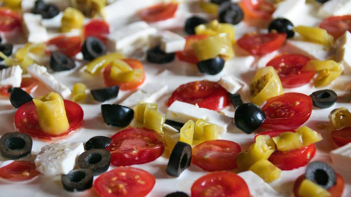 Tartas saludables con tomate fresco