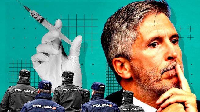 Policías exigen a Marlaska que les hagan PCR.