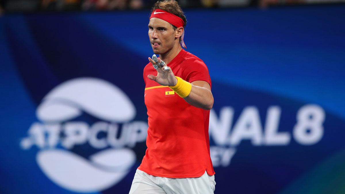 Nadal, durante la primera edición de la ATP Cup