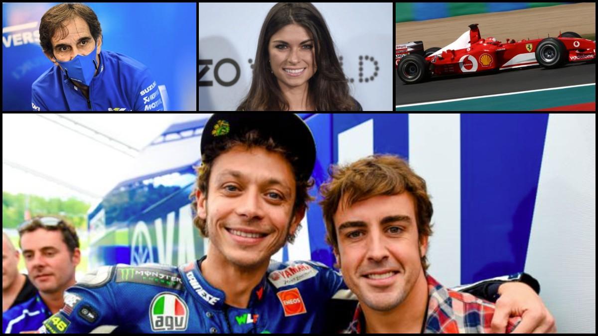 Valentino Rossi y Fernando Alonso.