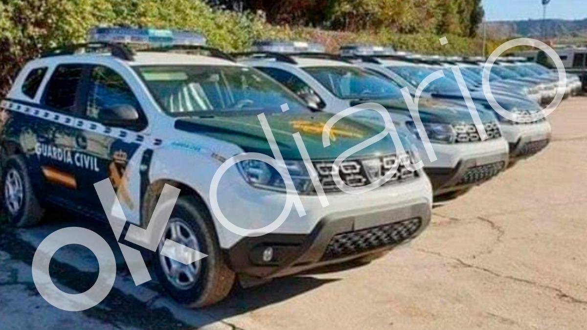 13 Dacia Duster esperan ser matriculados para entrar en servicio de patrulla para la Guardia Civil.