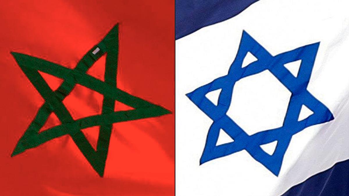 Bandera de Marruecos e Israel