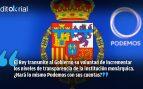 Lección real de transparencia de Felipe VI a Pablo Iglesias