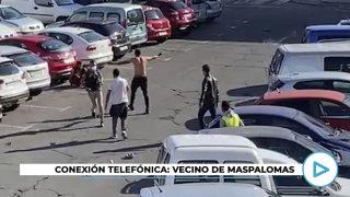 Brutal pelea entre inmigrantes ilegales en San Fernando de Maspalomas (Gran Canaria)