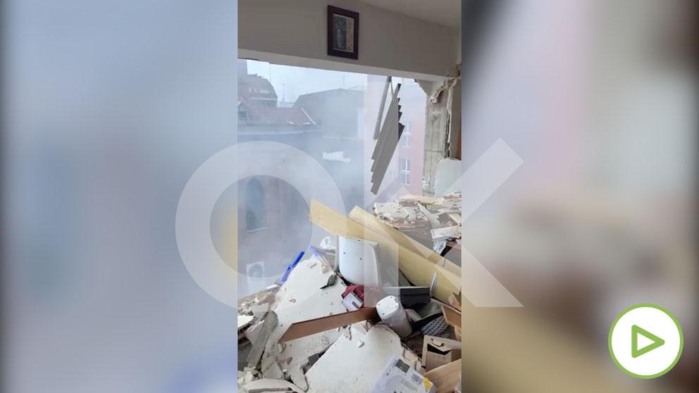 Así ha quedado por dentro el edificio de la calle Toledo tras la explosión