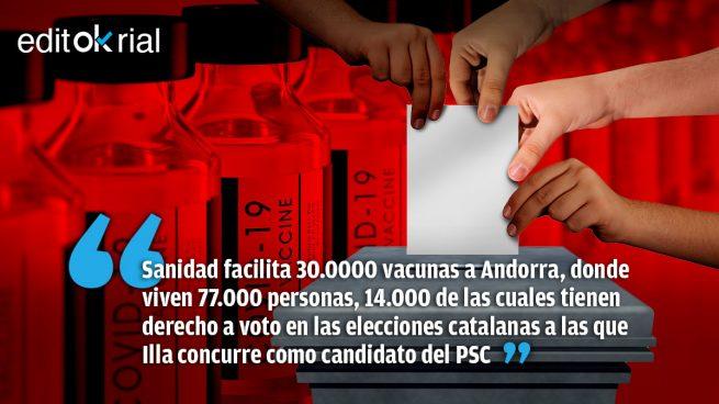 Illa cambia vacunas por votos en Andorra
