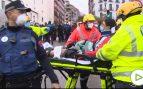 Los cuerpos de emergencias trabajan en la zona de la explosión