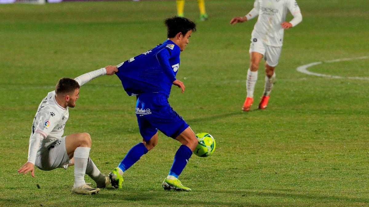 Kubo en un partido ante el Huesca. (EFE)