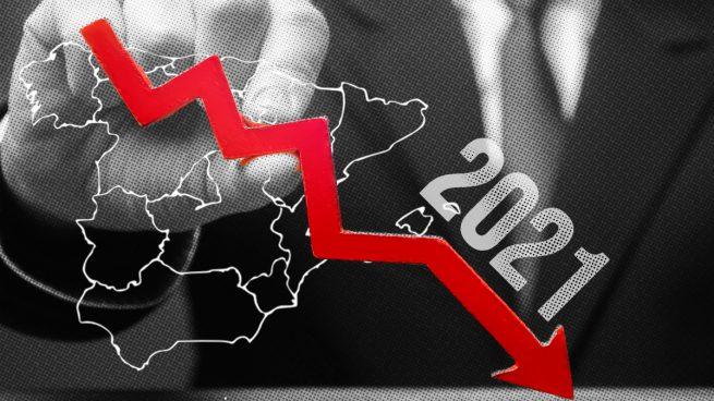 La economía española sufrió un descenso histórico de un 10,8% en 2020 lastrada por la pandemia