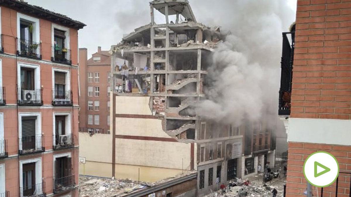 Cuatro muertos tras una fuerte explosión por un escape de gas en un edificio en Madrid