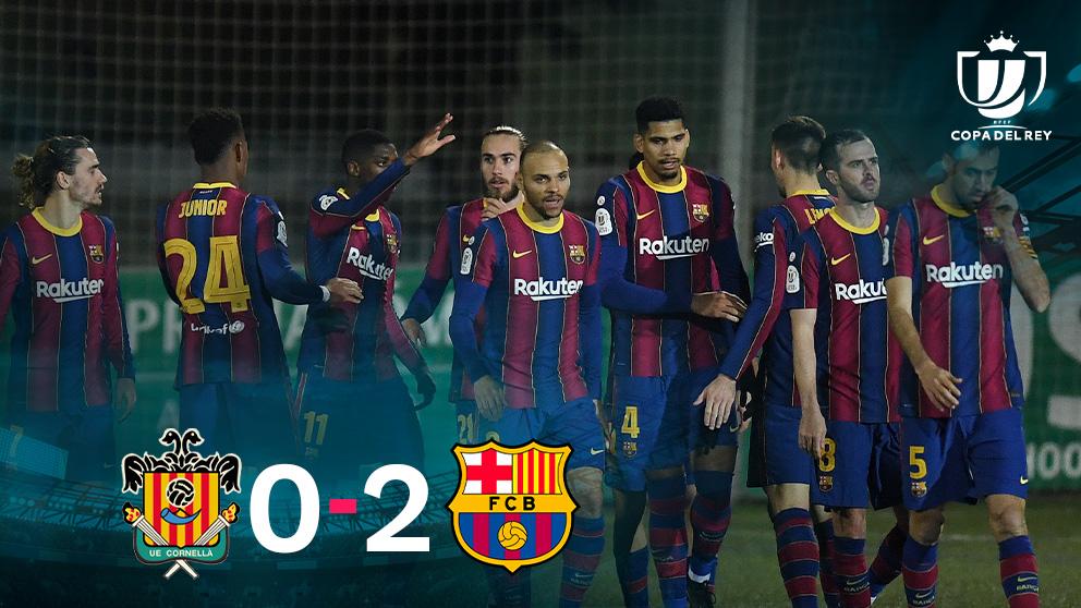 El Barcelona venció al Cornellá en la prórroga.