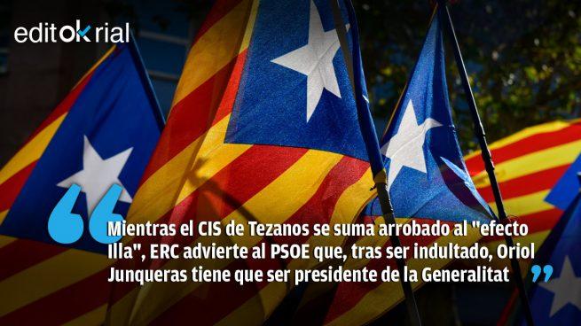 Junqueras acaba con el cuento de la lechera de Sánchez en Cataluña