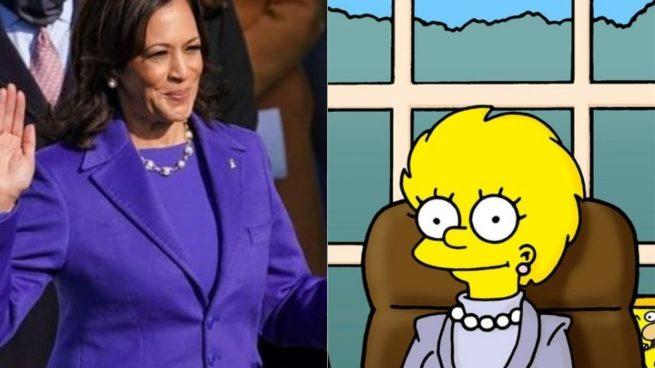 Predicción sobre Kamala Harris de Los Simpson