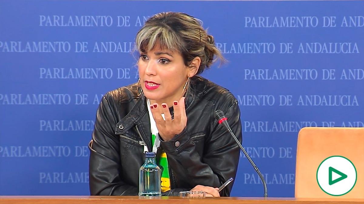 Teresa Rodríguez, líder de Anticapitalistas.