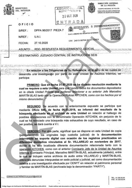 El diario de Roures brama por una 'filtración' que perjudica a su comisario protegido Martín Blas