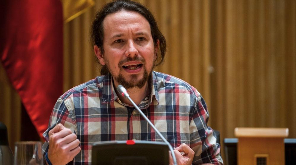 Pablo Iglesias en el Congreso. (Foto: Podemos)