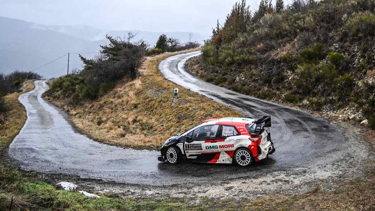 Sébastien Ogier durante el Rally de Montecarlo. (AFP)