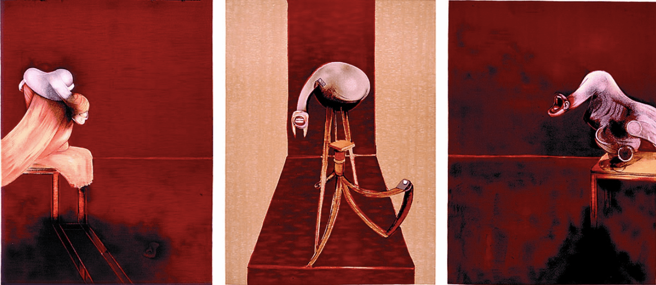 Francis Bacon, 2nd Version of Triptych 1944 (Large version) · 1989, lithograph on arches paper, 178.5 x 119.5 cm (each)