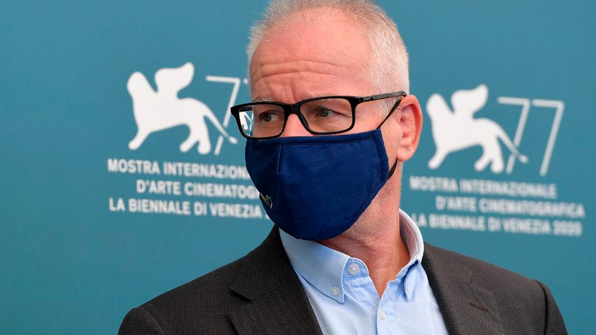 El director del festival internacional de cine de Cannes, Thierry Fremaux, durante la edición de 2020. Foto: AFP