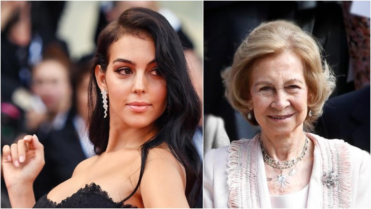 Georgina Rodríguez y la Reina Sofía en fotos de archivo