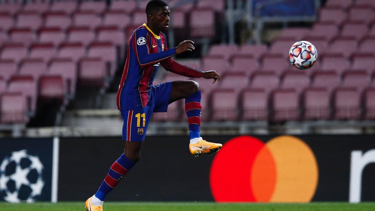 Ousmane Dembélé, durante un partido con el Barcelona esta temporada. (Getty)