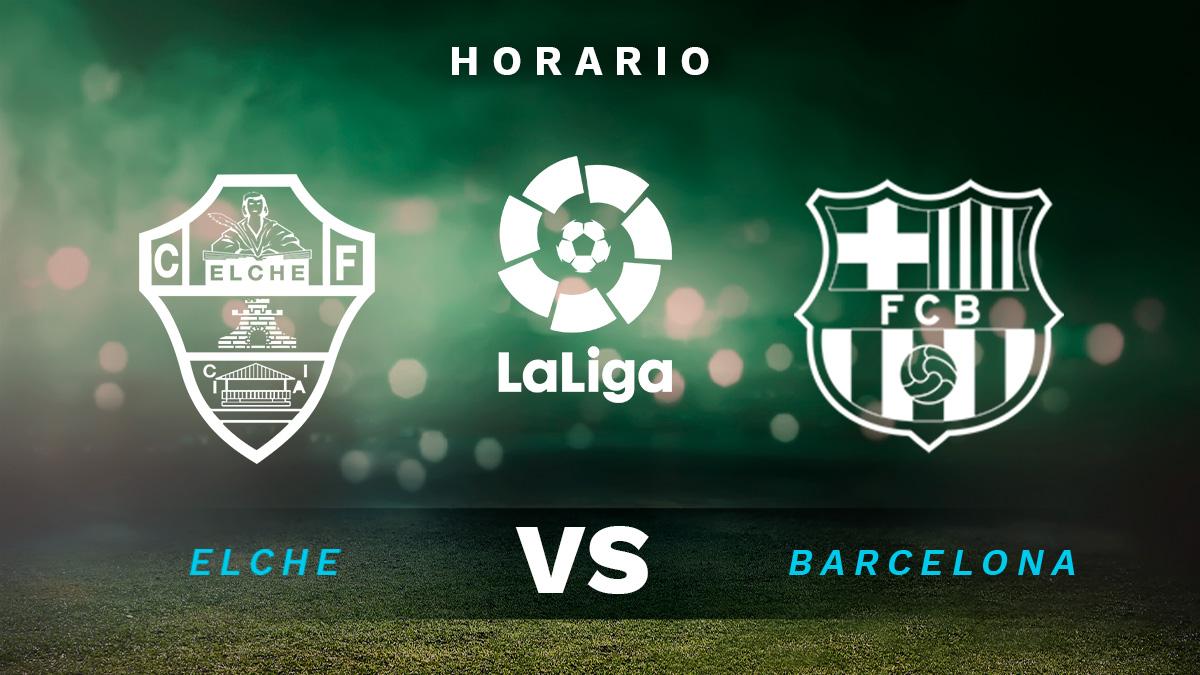 Elche – Barcelona: horario y dónde ver en directo por TV el partido de Liga Santander.