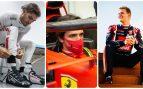 Giovinazzi, Carlos Sainz y Mick Schumacher