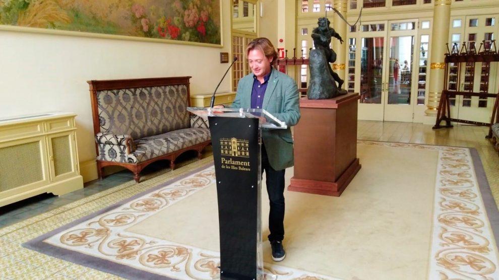 Portavoz de Vox en el Parlamento autonómico de las Islas Baleares, Jorge Campos. Foto: EP
