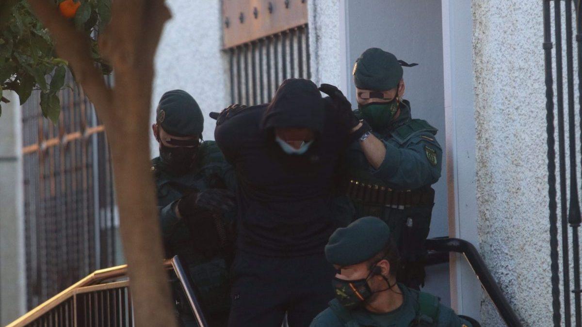 Salida de los juzgados de Fuengirola (Málaga) de 'El Melillero'.