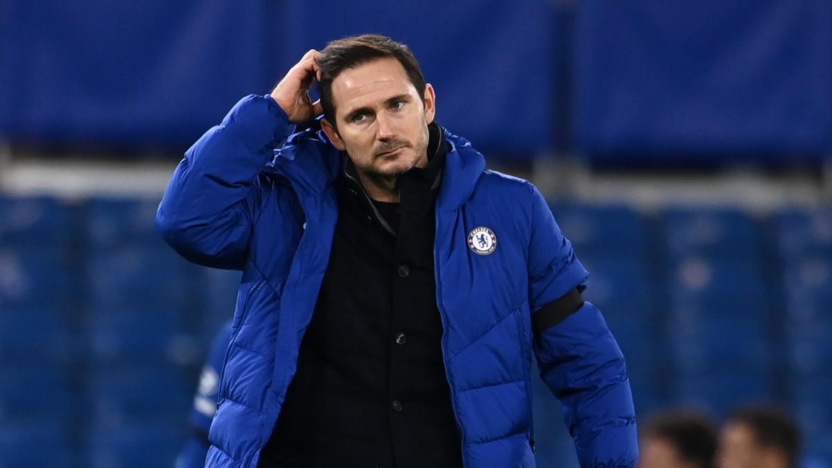 Frank Lampard durante un partido con el Chelsea. (Getty)