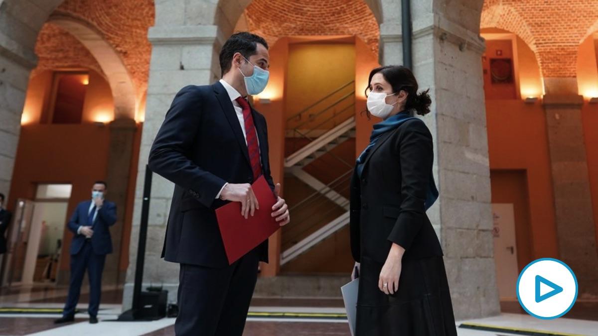 Ignacio Aguado e Isabel Díaz Ayuso. (Foto: Comunidad)