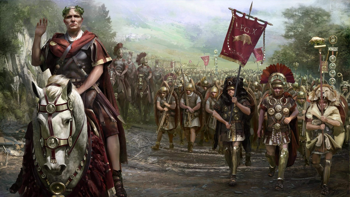 Julio César al cruzar el Rubicón