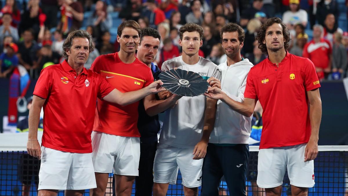 Los jugadores del equipo español en la ATP Cup. (Getty)