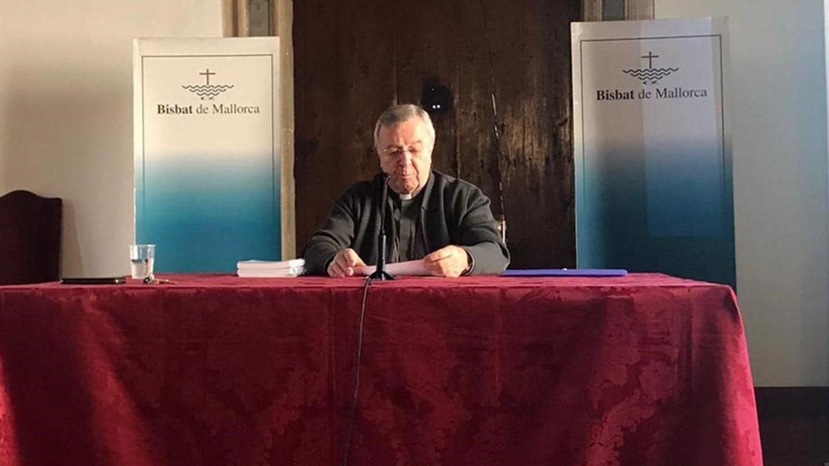 El obispo de Mallorca, Sebastià Taltavull (Foto: EP)