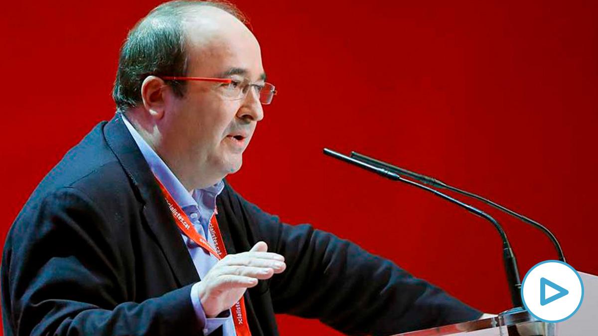 El secretario general del PSC, Miquel Iceta, tras ser ratificado hoy como líder de los socialistas catalanes durante la segunda jornada de su congreso celebrado en Barcelona y en la que se han debatido las enmiendas a su ponencia estratégica. Foto: EFE