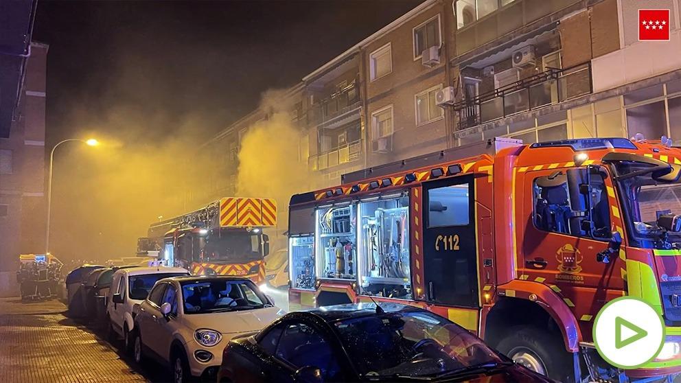 Incendio en Alcalá de Henares.