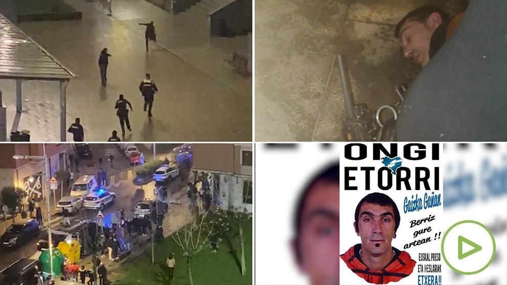 Uno condenado por kale borroka está detrás de la emboscada a dos policías en Vizcaya.