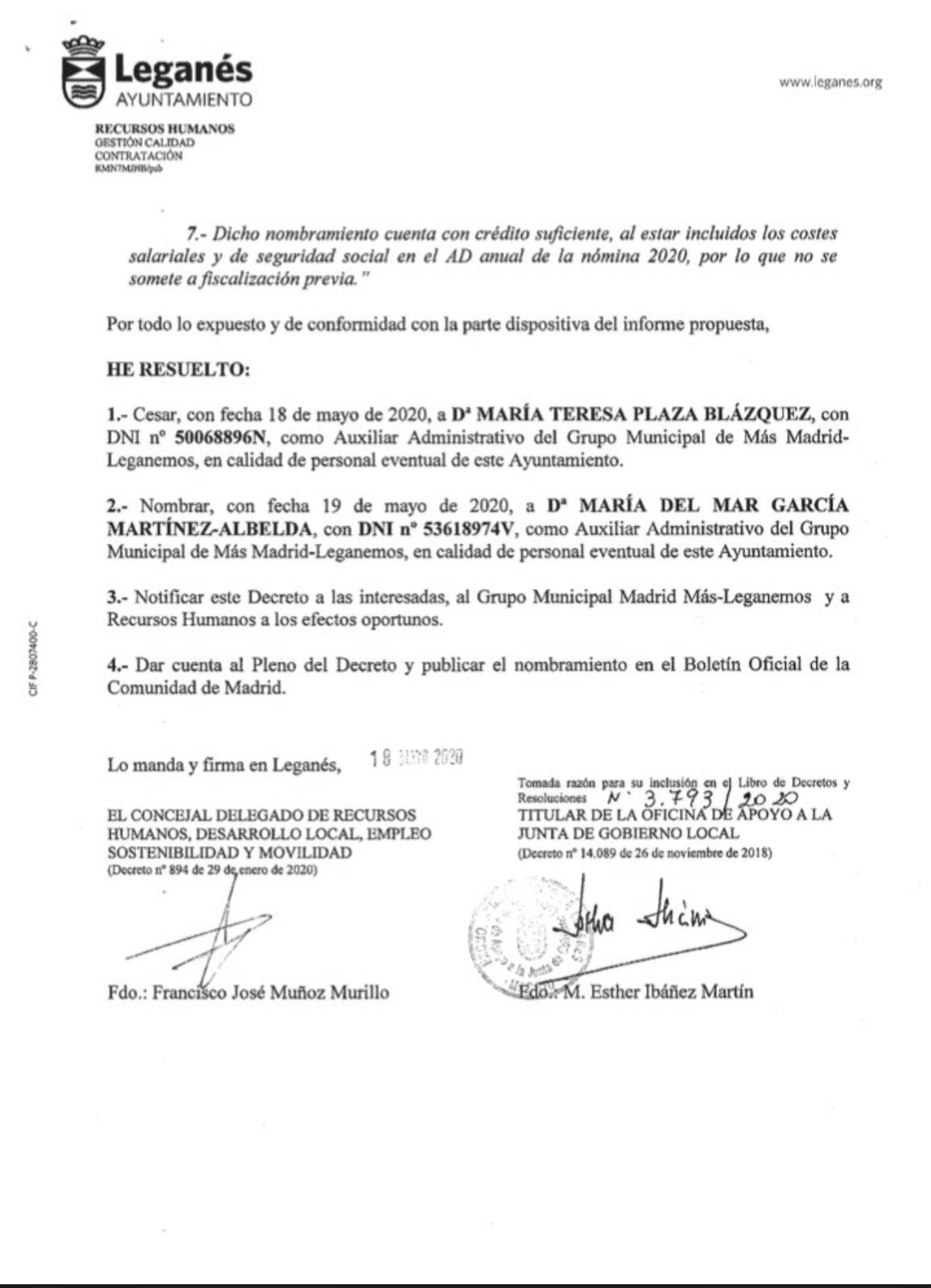 Perfil de Mar García en el Ayuntamiento de Leganés.