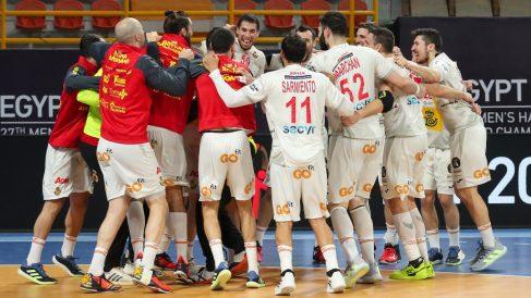 La selección española de balonmano quiere otro Mundial. (AFP)