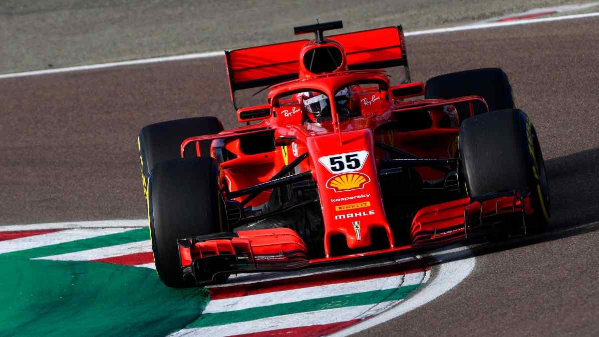 Carlos Sainz, en su estreno con Ferrari.