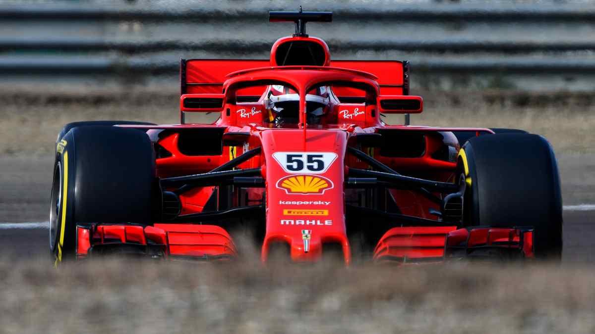 Imágenes del debut de Carlos Sainz con Ferrari. (Getty)