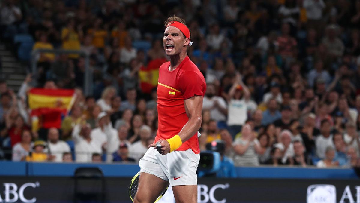 La ATP Cup será la primera cita oficial de Nadal en la temporada (Getty)